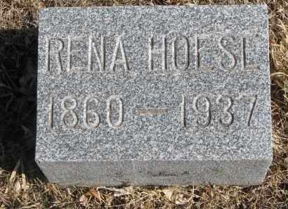 HOESE, RENA - Cedar County, Nebraska | RENA HOESE - Nebraska Gravestone Photos