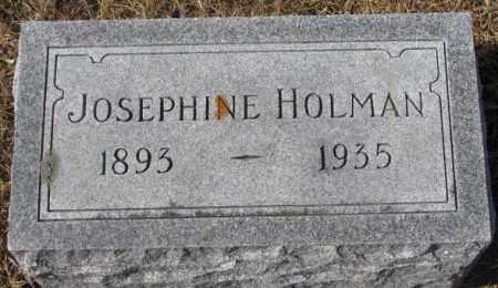 HOLMAN, JOSEPHINE - Cedar County, Nebraska | JOSEPHINE HOLMAN - Nebraska Gravestone Photos