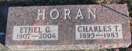 HORAN, CHARLES T. - Cedar County, Nebraska | CHARLES T. HORAN - Nebraska Gravestone Photos