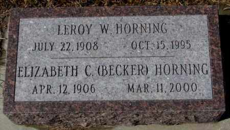 BECKER HORNING, ELIZABETH C. - Cedar County, Nebraska | ELIZABETH C. BECKER HORNING - Nebraska Gravestone Photos