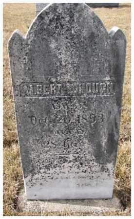 HOUGH, ALBERT E. - Cedar County, Nebraska | ALBERT E. HOUGH - Nebraska Gravestone Photos