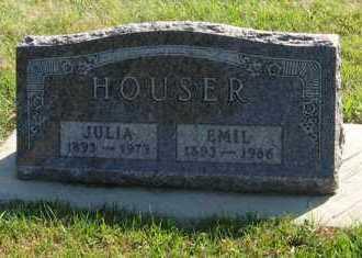 HOUSER, EMIL - Cedar County, Nebraska | EMIL HOUSER - Nebraska Gravestone Photos