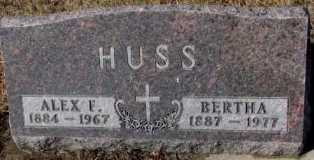 HUSS, BERTHA - Cedar County, Nebraska | BERTHA HUSS - Nebraska Gravestone Photos