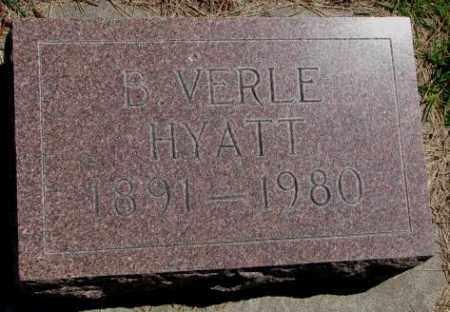 HYATT, B. VERLE - Cedar County, Nebraska | B. VERLE HYATT - Nebraska Gravestone Photos