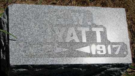 HYATT, G.W. - Cedar County, Nebraska   G.W. HYATT - Nebraska Gravestone Photos