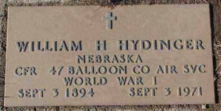 HYDINGER, WILLIAM H. - Cedar County, Nebraska | WILLIAM H. HYDINGER - Nebraska Gravestone Photos