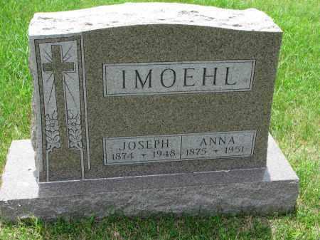 IMOEHL, ANNA - Cedar County, Nebraska | ANNA IMOEHL - Nebraska Gravestone Photos