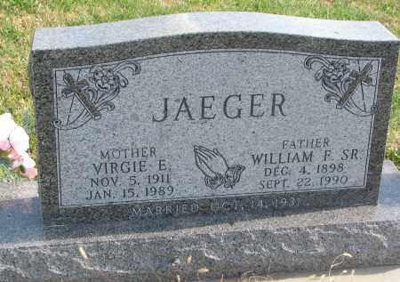 JAEGER, VIRGIE E. - Cedar County, Nebraska | VIRGIE E. JAEGER - Nebraska Gravestone Photos
