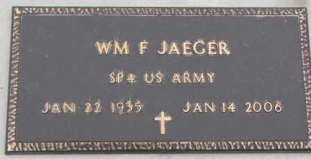 JAEGER, WILLIAM F. (MILITARY) - Cedar County, Nebraska | WILLIAM F. (MILITARY) JAEGER - Nebraska Gravestone Photos