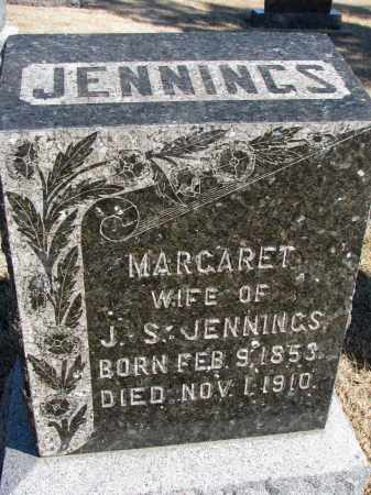 JENNINGS, MARGARET - Cedar County, Nebraska | MARGARET JENNINGS - Nebraska Gravestone Photos