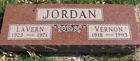 JORDAN, LAVERN - Cedar County, Nebraska | LAVERN JORDAN - Nebraska Gravestone Photos