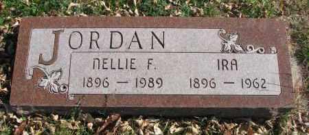 JORDAN, NELLIE F. - Cedar County, Nebraska   NELLIE F. JORDAN - Nebraska Gravestone Photos