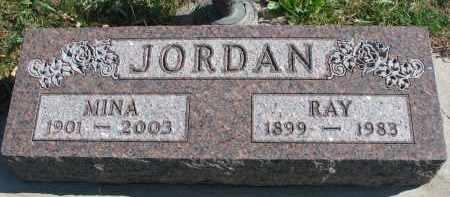 JORDAN, MINA - Cedar County, Nebraska | MINA JORDAN - Nebraska Gravestone Photos