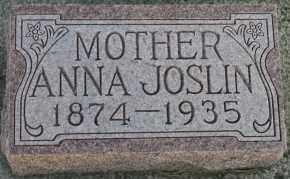 JOSLIN, ANNA - Cedar County, Nebraska   ANNA JOSLIN - Nebraska Gravestone Photos