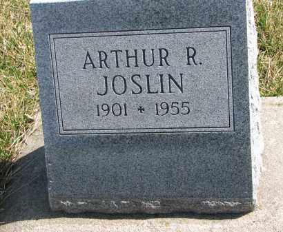 JOSLIN, ARTHUR R. - Cedar County, Nebraska   ARTHUR R. JOSLIN - Nebraska Gravestone Photos