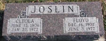 JOSLIN, FLOYD - Cedar County, Nebraska | FLOYD JOSLIN - Nebraska Gravestone Photos