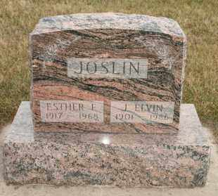 JOSLIN, ESTHER F - Cedar County, Nebraska | ESTHER F JOSLIN - Nebraska Gravestone Photos
