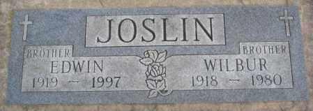 JOSLIN, WILBUR - Cedar County, Nebraska   WILBUR JOSLIN - Nebraska Gravestone Photos