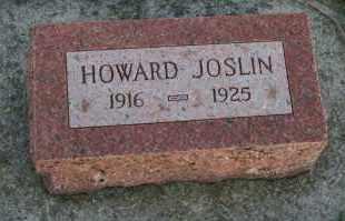 JOSLIN, HOWARD - Cedar County, Nebraska | HOWARD JOSLIN - Nebraska Gravestone Photos