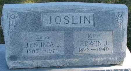 JOSLIN, EDWIN J. - Cedar County, Nebraska | EDWIN J. JOSLIN - Nebraska Gravestone Photos