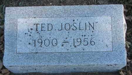 JOSLIN, TED - Cedar County, Nebraska | TED JOSLIN - Nebraska Gravestone Photos