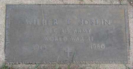 JOSLIN, WILBER E. (WW II MARKER) - Cedar County, Nebraska | WILBER E. (WW II MARKER) JOSLIN - Nebraska Gravestone Photos