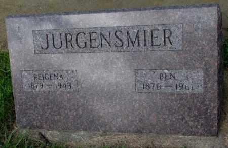 JURGENSMIER, REIGENA - Cedar County, Nebraska   REIGENA JURGENSMIER - Nebraska Gravestone Photos