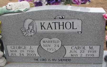 KATHOL, CAROL M. - Cedar County, Nebraska | CAROL M. KATHOL - Nebraska Gravestone Photos