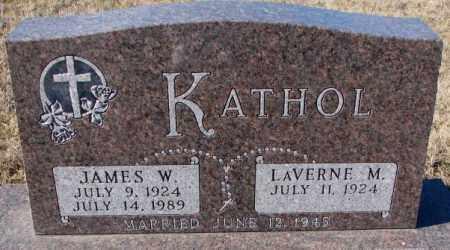KATHOL, JAMES W. - Cedar County, Nebraska | JAMES W. KATHOL - Nebraska Gravestone Photos