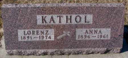 KATHOL, LORENZ - Cedar County, Nebraska | LORENZ KATHOL - Nebraska Gravestone Photos