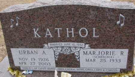 KATHOL, MARJORIE R. - Cedar County, Nebraska   MARJORIE R. KATHOL - Nebraska Gravestone Photos
