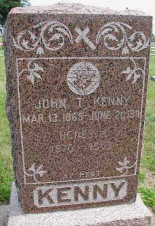 KENNY, JOHN T. - Cedar County, Nebraska | JOHN T. KENNY - Nebraska Gravestone Photos