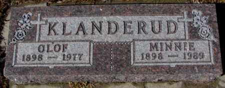 KLANDERUD, MINNIE - Cedar County, Nebraska | MINNIE KLANDERUD - Nebraska Gravestone Photos