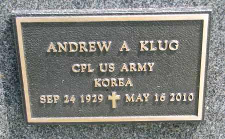 KLUG, ANDREW A. (MILITARY) - Cedar County, Nebraska | ANDREW A. (MILITARY) KLUG - Nebraska Gravestone Photos