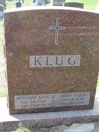 KLUG, MARY - Cedar County, Nebraska | MARY KLUG - Nebraska Gravestone Photos