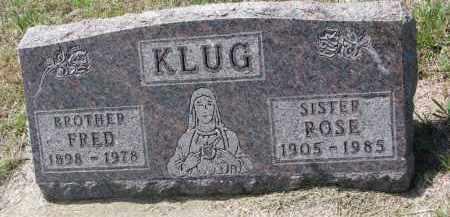KLUG, FRED - Cedar County, Nebraska | FRED KLUG - Nebraska Gravestone Photos