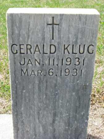 KLUG, GERALD - Cedar County, Nebraska | GERALD KLUG - Nebraska Gravestone Photos