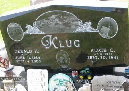 KLUG, GERALD H. - Cedar County, Nebraska | GERALD H. KLUG - Nebraska Gravestone Photos