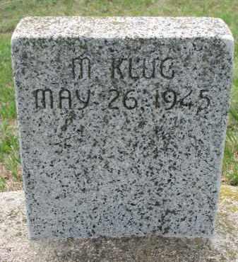 KLUG, M. - Cedar County, Nebraska | M. KLUG - Nebraska Gravestone Photos