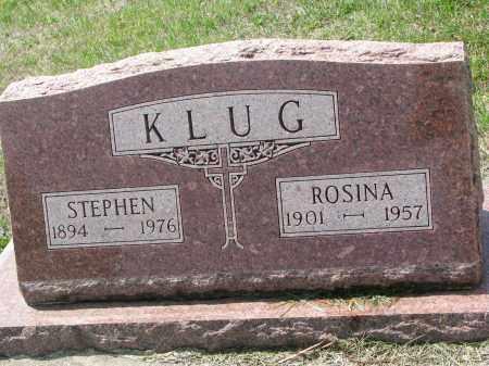 KLUG, ROSINA - Cedar County, Nebraska   ROSINA KLUG - Nebraska Gravestone Photos