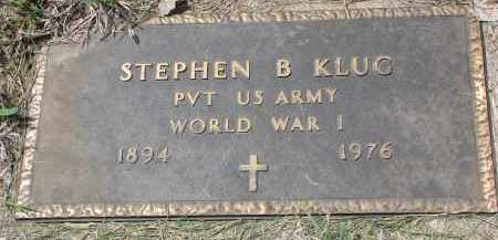KLUG, STEPHEN B. (WW I) - Cedar County, Nebraska | STEPHEN B. (WW I) KLUG - Nebraska Gravestone Photos