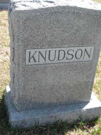 KNUDSON, FAMILY STONE - Cedar County, Nebraska | FAMILY STONE KNUDSON - Nebraska Gravestone Photos