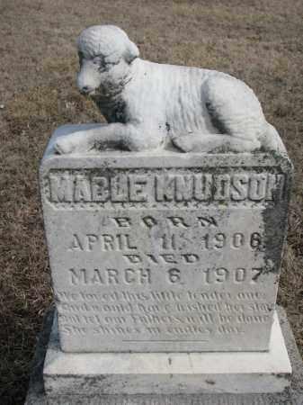 KNUDSON, MABLE - Cedar County, Nebraska | MABLE KNUDSON - Nebraska Gravestone Photos