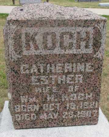 KOCH, CATHERINE ESTHER - Cedar County, Nebraska | CATHERINE ESTHER KOCH - Nebraska Gravestone Photos