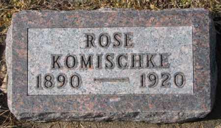 KOMISCHKE, ROSE - Cedar County, Nebraska | ROSE KOMISCHKE - Nebraska Gravestone Photos