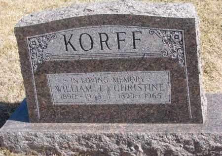 KORFF, CHRISTINE - Cedar County, Nebraska | CHRISTINE KORFF - Nebraska Gravestone Photos