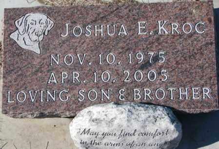 KROC, JOSHUA E. - Cedar County, Nebraska | JOSHUA E. KROC - Nebraska Gravestone Photos