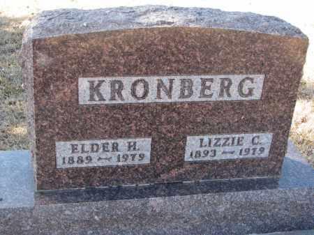 KRONBERG, LIZZIE C. - Cedar County, Nebraska | LIZZIE C. KRONBERG - Nebraska Gravestone Photos