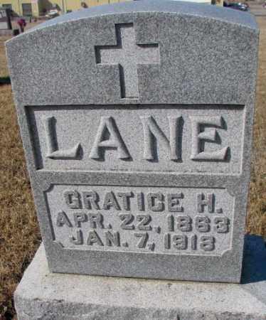 LANE, GRATICE H. - Cedar County, Nebraska | GRATICE H. LANE - Nebraska Gravestone Photos