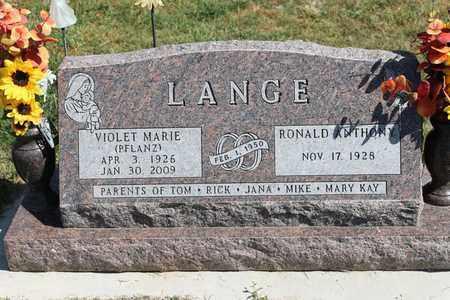 PFLANZ LANGE, VIOLET MARIE - Cedar County, Nebraska   VIOLET MARIE PFLANZ LANGE - Nebraska Gravestone Photos